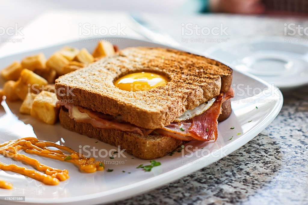 Egg in a Basket stock photo