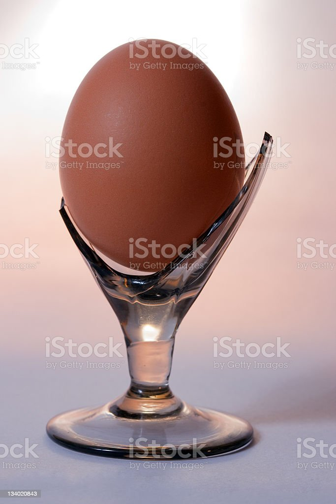 Egg in a broken glass royalty-free stock photo