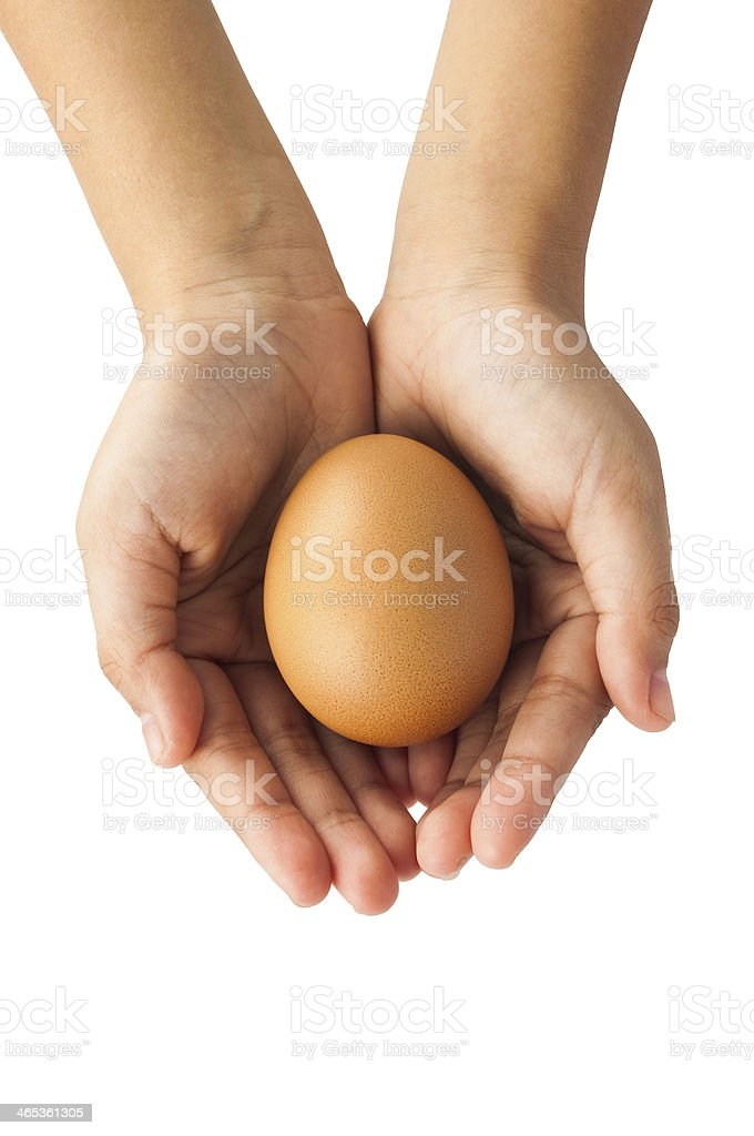 egg in hand royalty-free stock photo