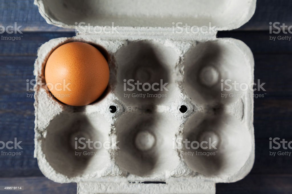 egg in the box stock photo