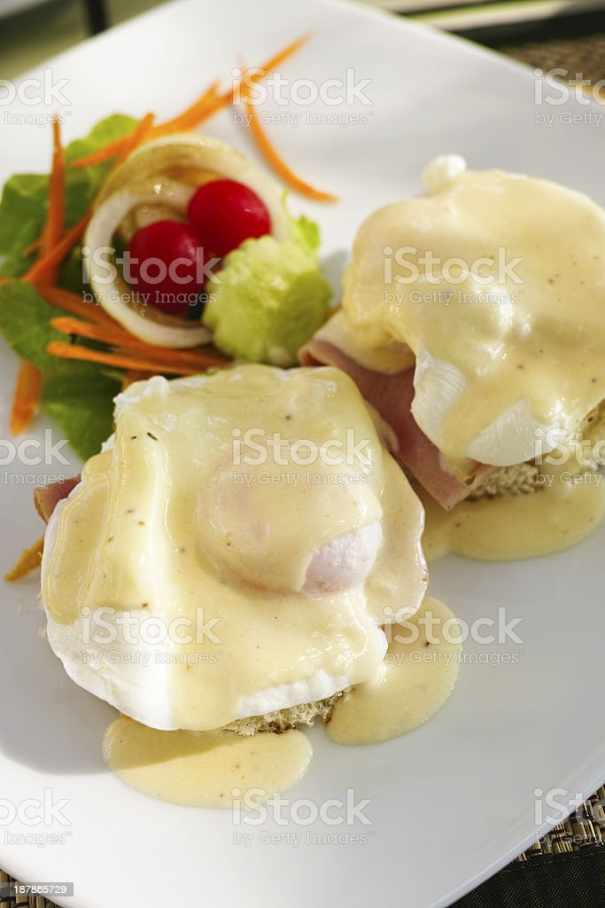 Eggs Mornay. stock photo