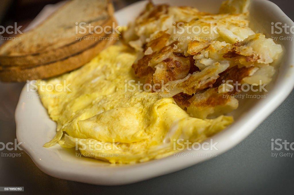 Egg Omelette Home Fries stock photo
