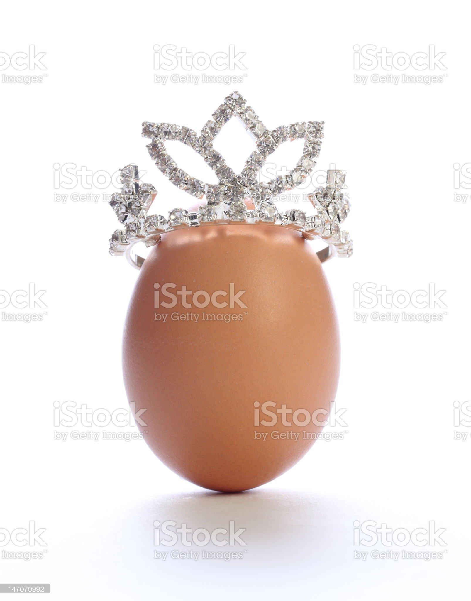 Egg on the tiara royalty-free stock photo