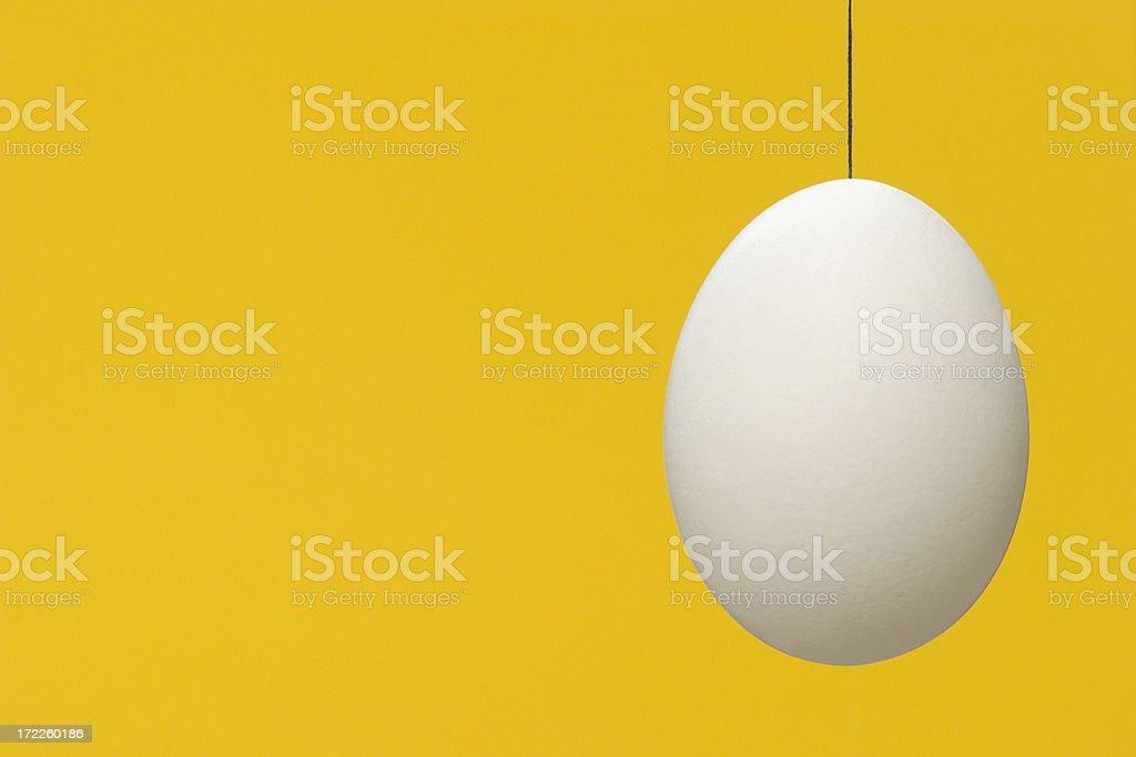 Egg on yellow royalty-free stock photo