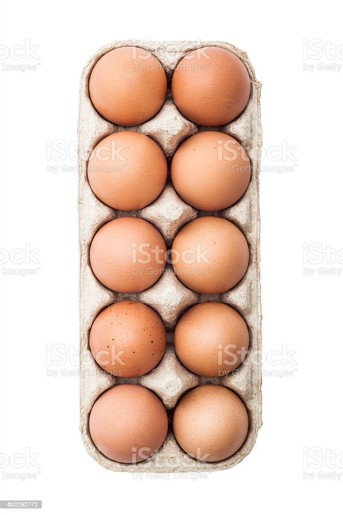 Egg Pack Isolated on White stock photo