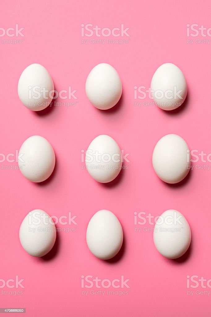 Egg Pattern on Pink stock photo