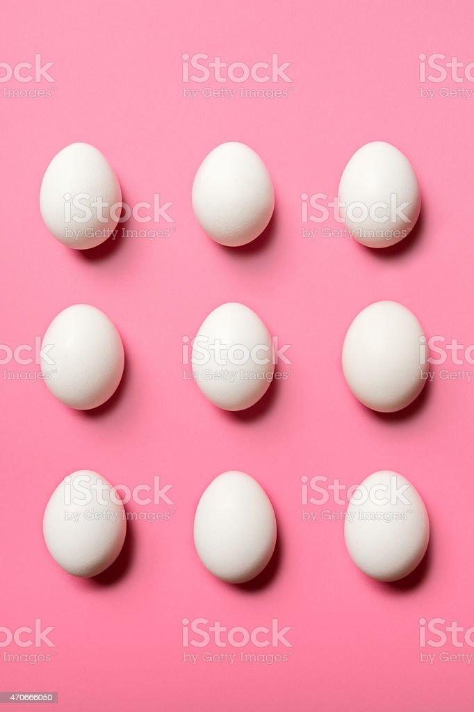 Egg Pattern on Pink stock photo