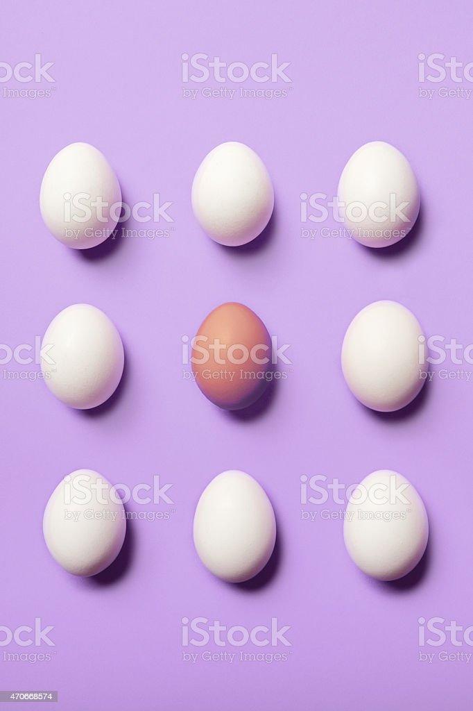 Egg Pattern on Purple stock photo