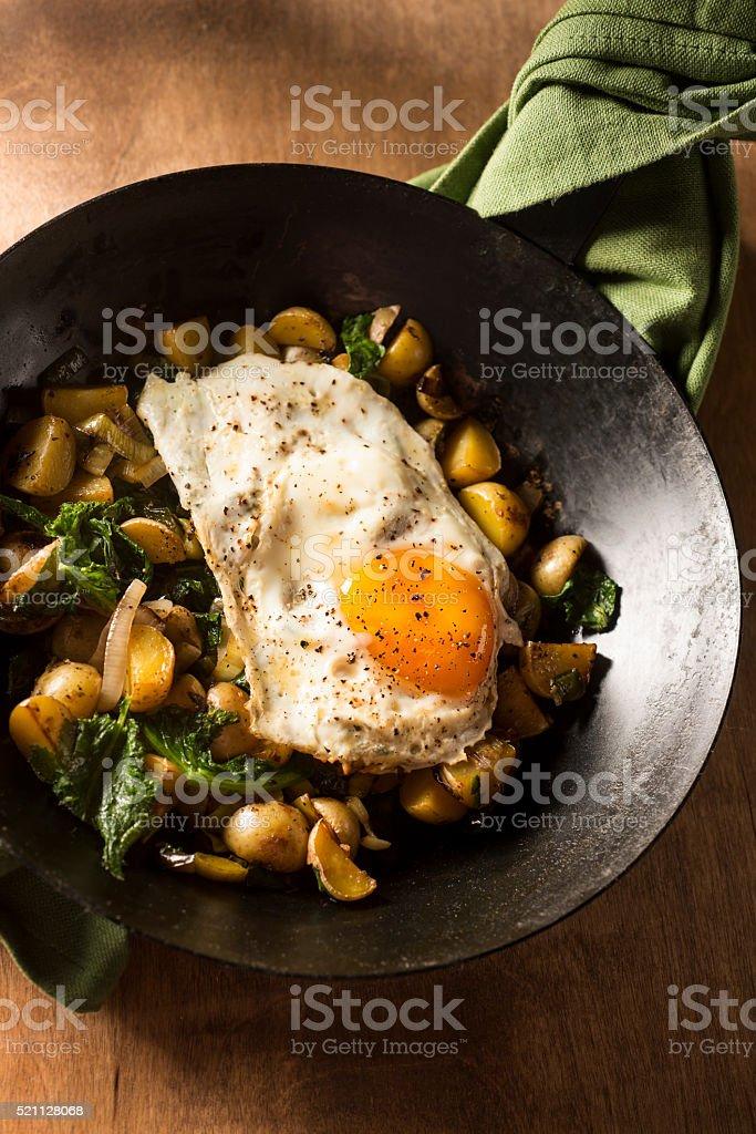 Egg Potato Skillet stock photo