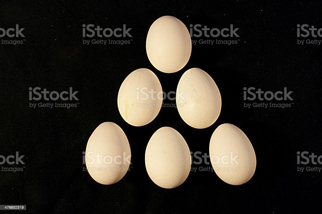 Egg pyramid stock photo