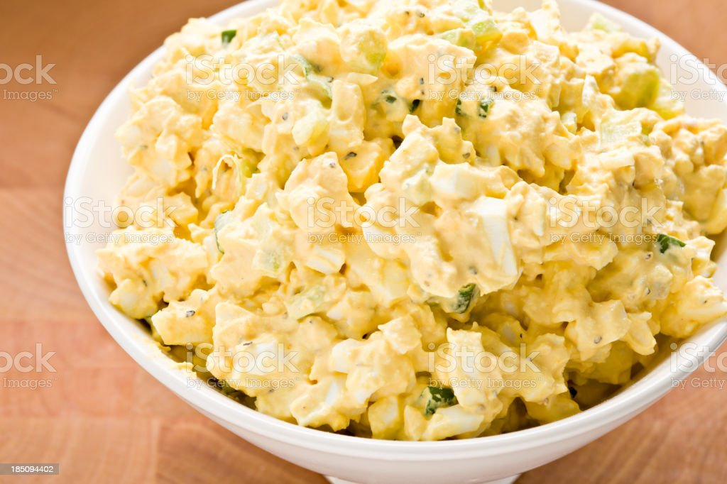 Egg Salad In A Bowl stock photo