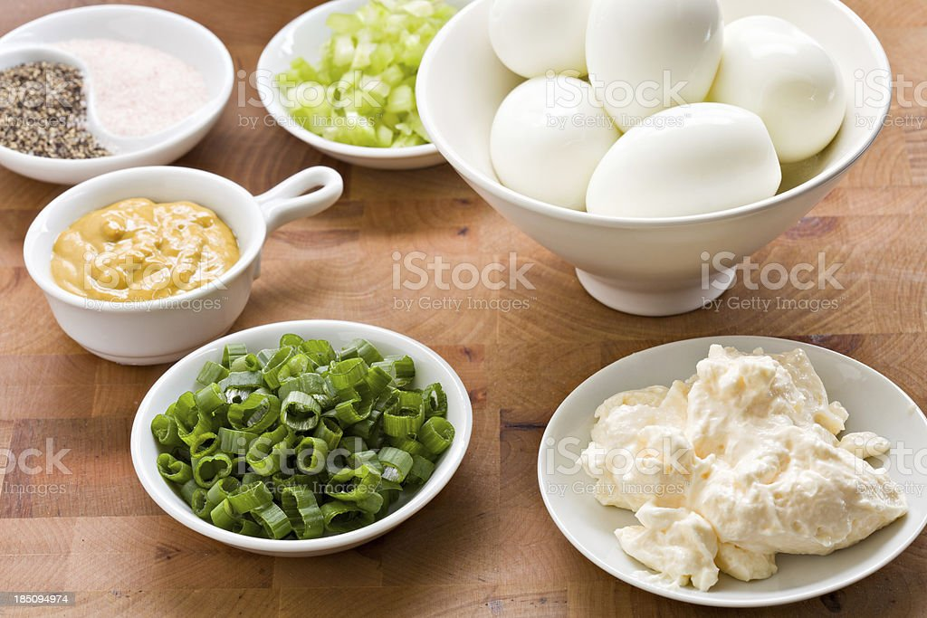 Egg Salad Ingredients stock photo
