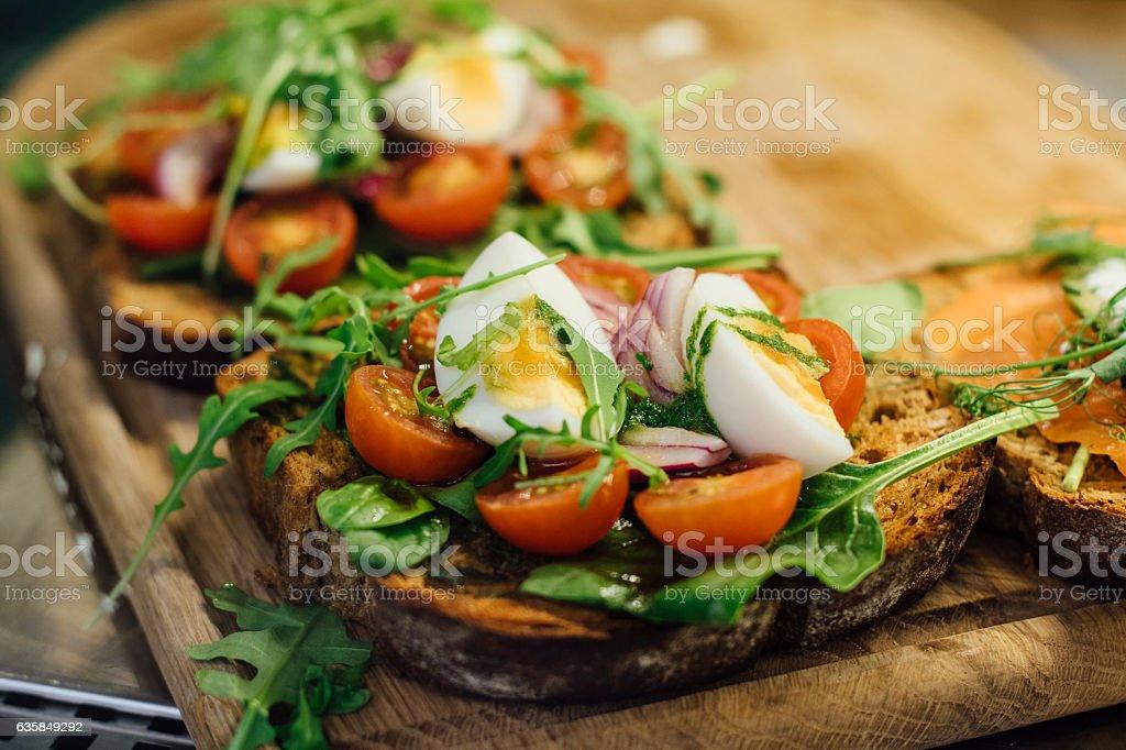 Egg Salad on Bread stock photo