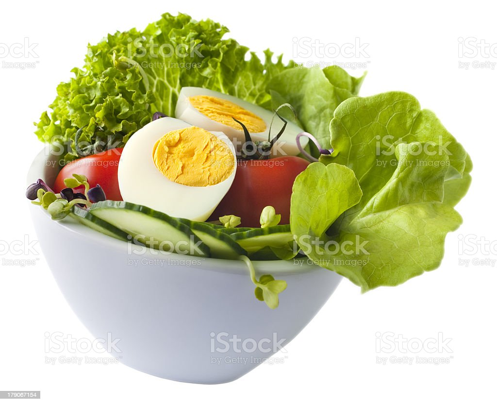 Egg Salad on White stock photo