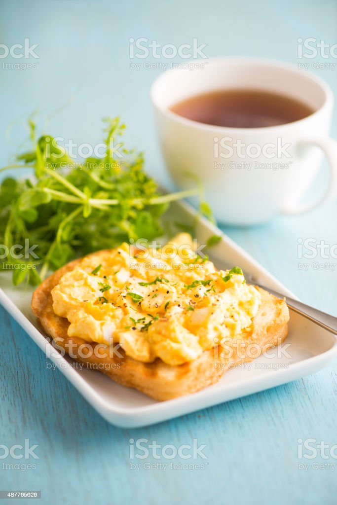 Egg Salad Open Sandwich stock photo