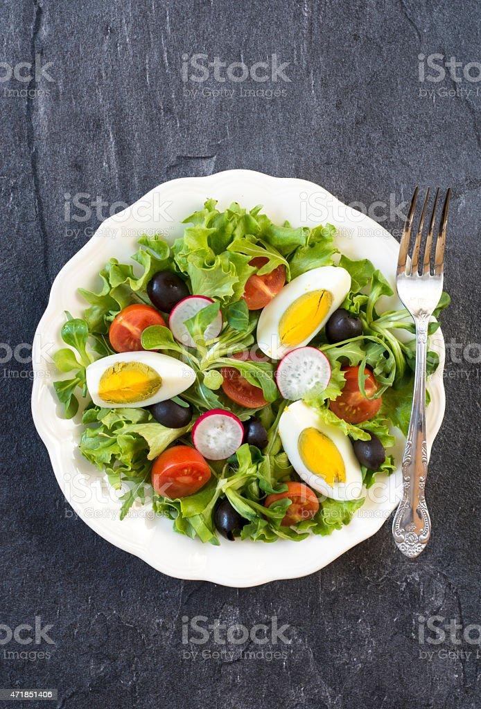 Egg salad stock photo
