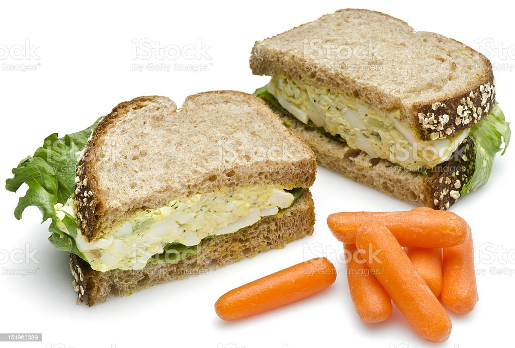 Egg salad sandwich lunch stock photo