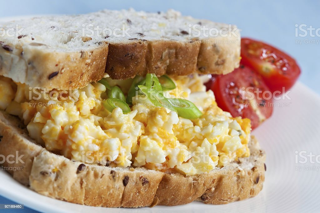 Egg Salad Sandwich stock photo