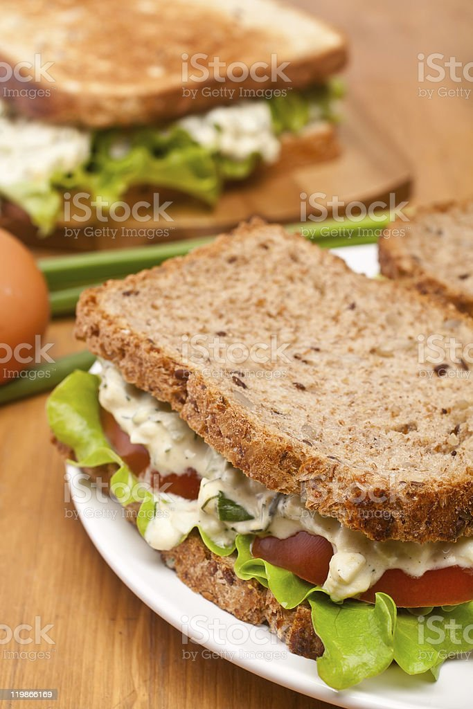 egg salad sandwiches royalty-free stock photo