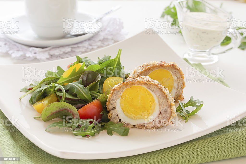 Egg salad with scotch. stock photo
