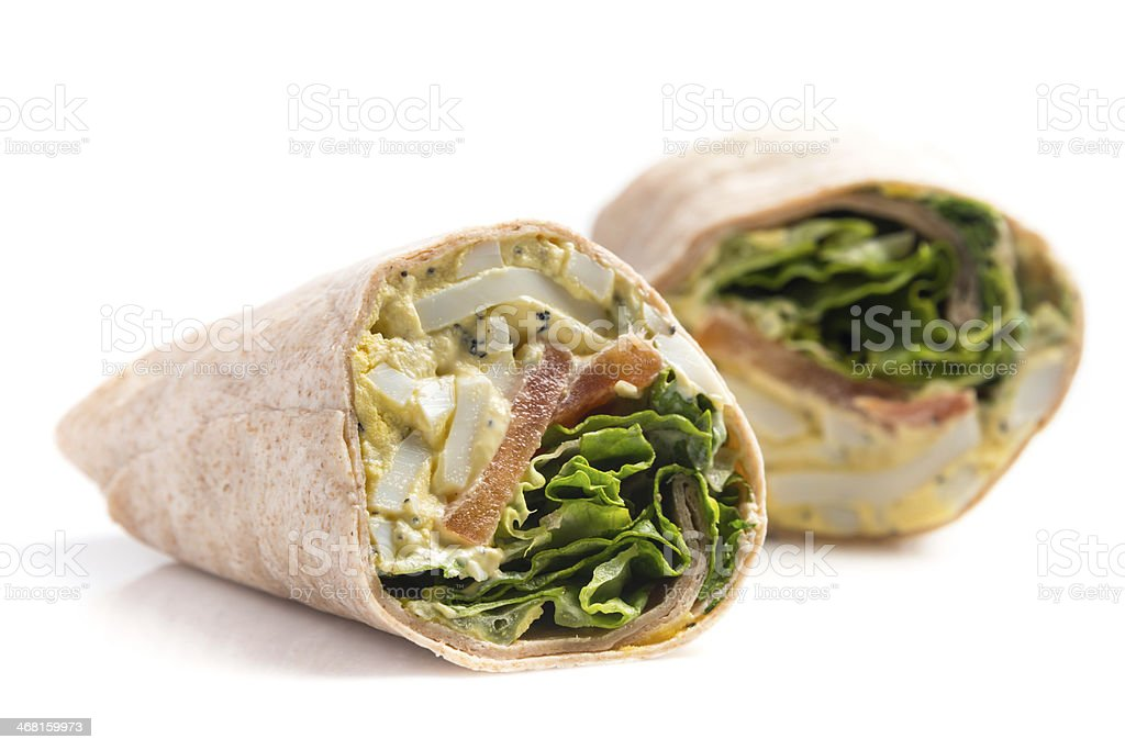 Egg Salad Wrap Sandwich stock photo
