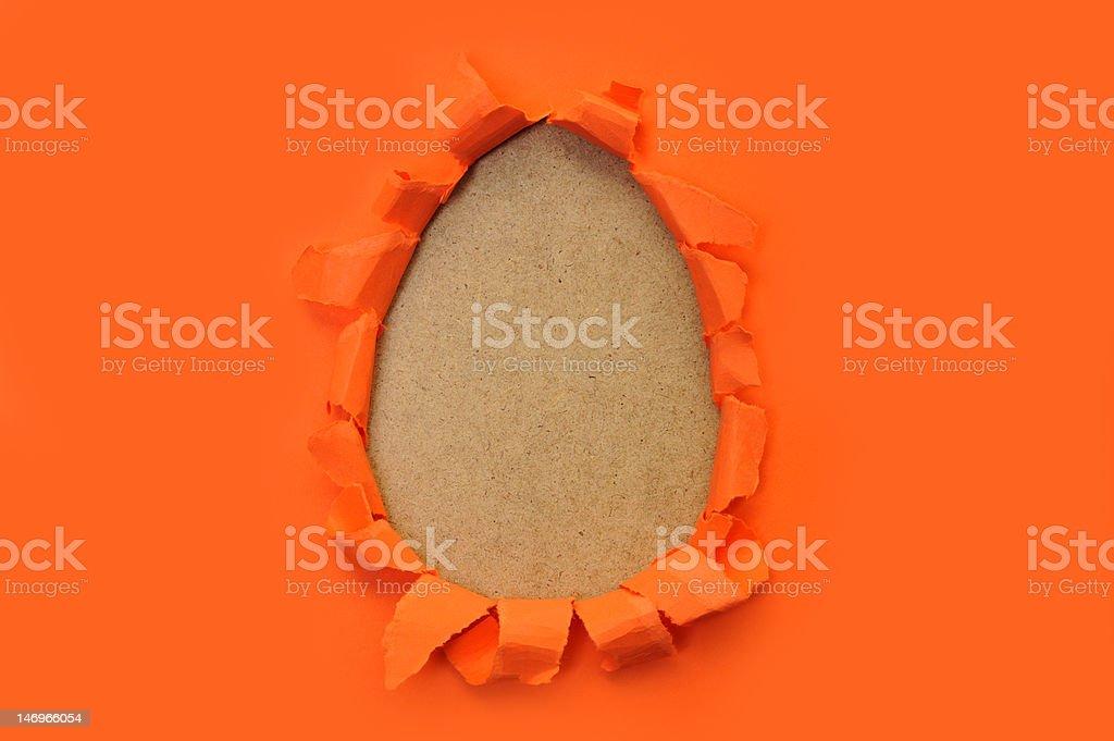 egg shape hole royalty-free stock photo