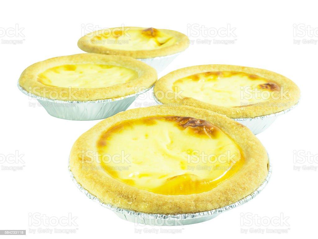 Egg tart custard  bakery dessert stock photo