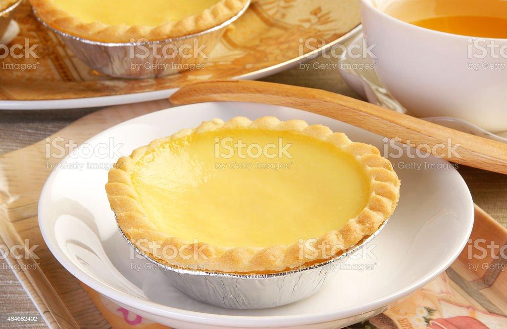 Egg tart stock photo
