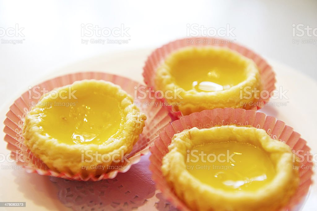 Egg Tarts stock photo