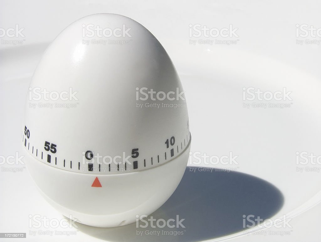 egg timer: 30 seconds to go! royalty-free stock photo
