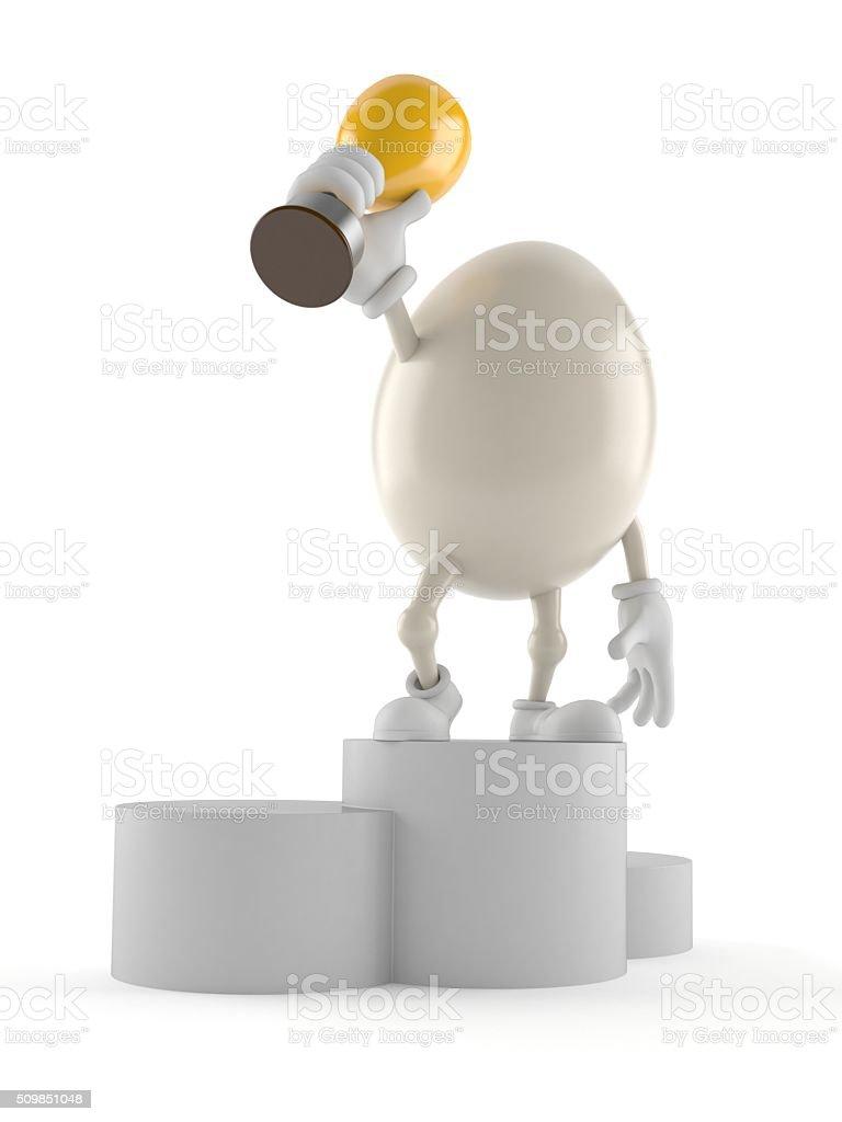 Egg toon stock photo