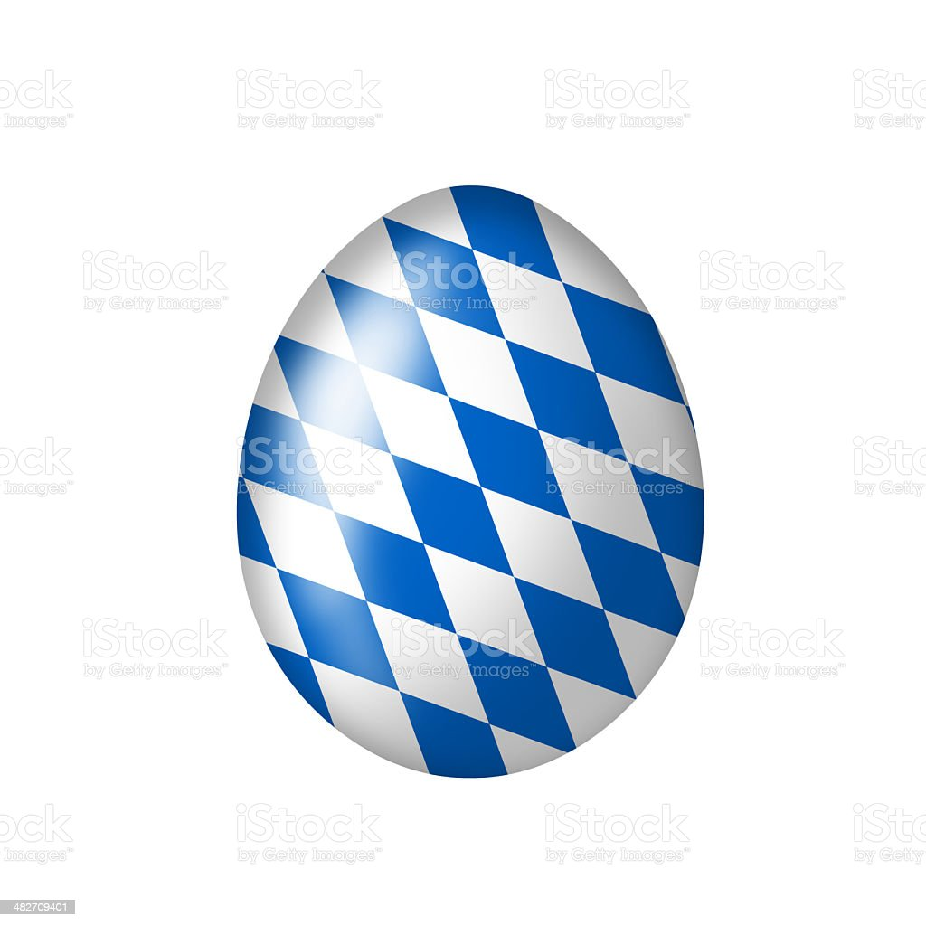 Egg with bavarian national colours stock photo