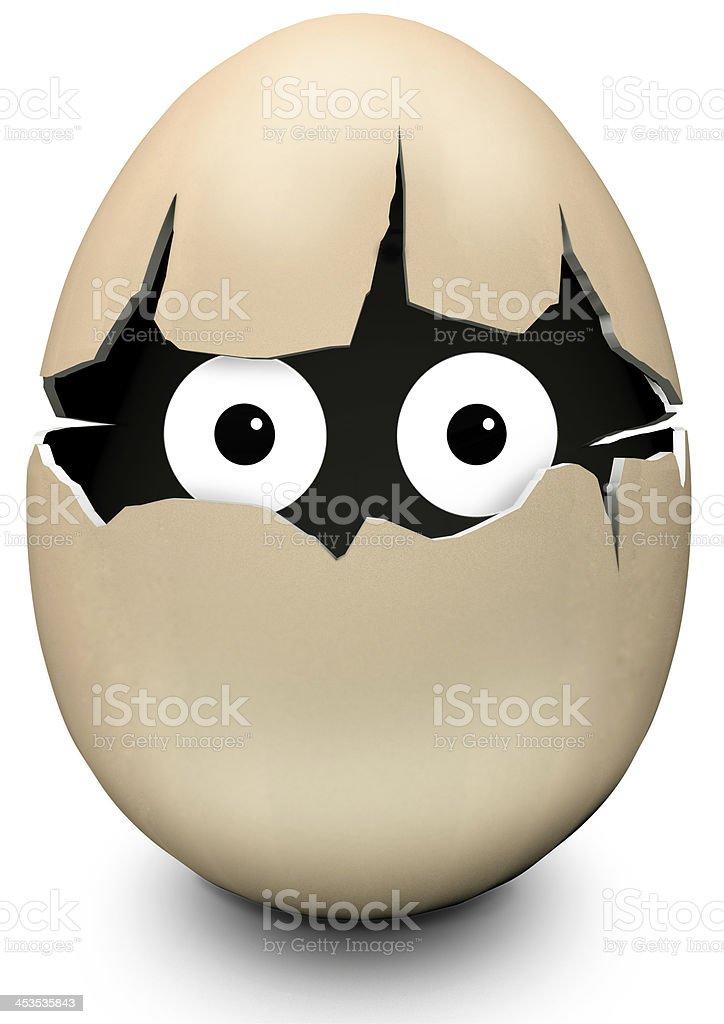 egg with eyes stock photo
