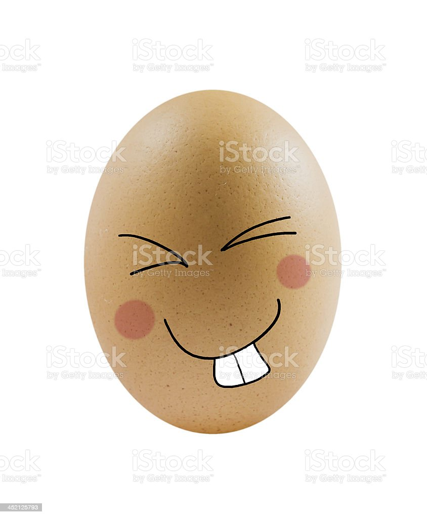 egg with face royalty-free stock photo
