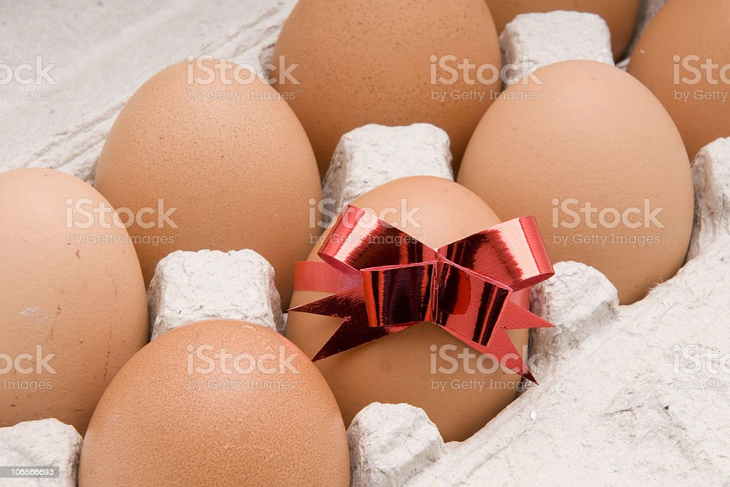 egg  with red bow royalty-free stock photo
