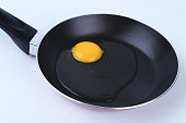 egg yolk melted on pan