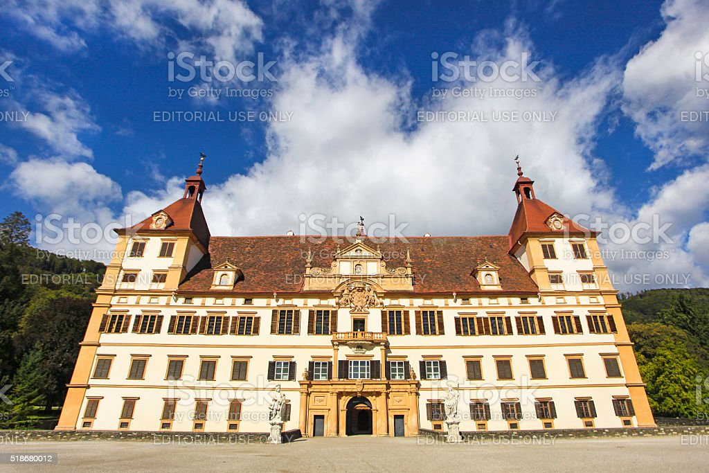 Eggenberg castle Graz stock photo