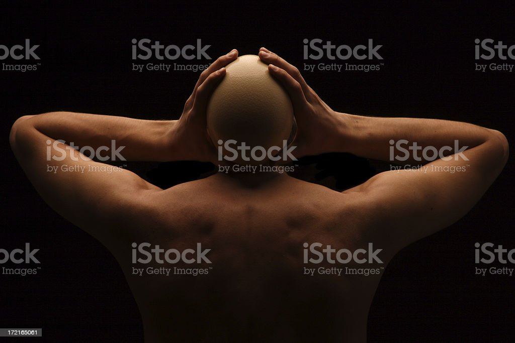 Egghead stock photo