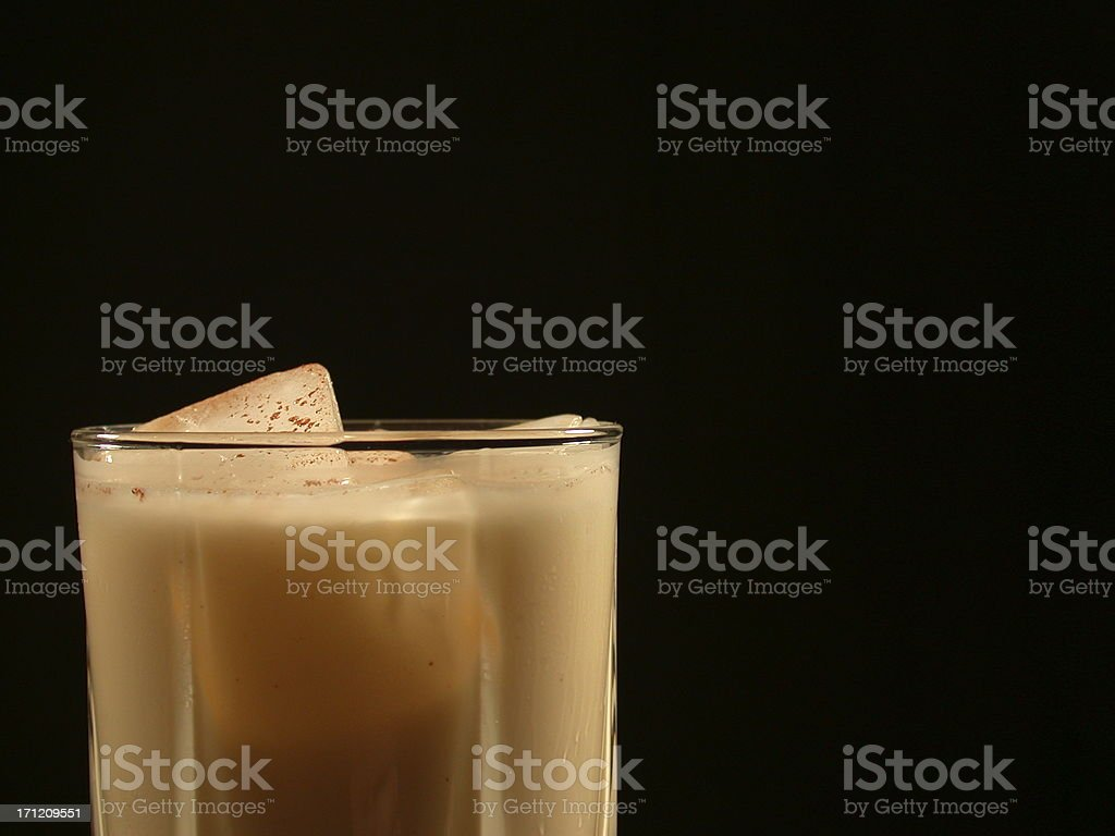 Eggnog Against Black royalty-free stock photo