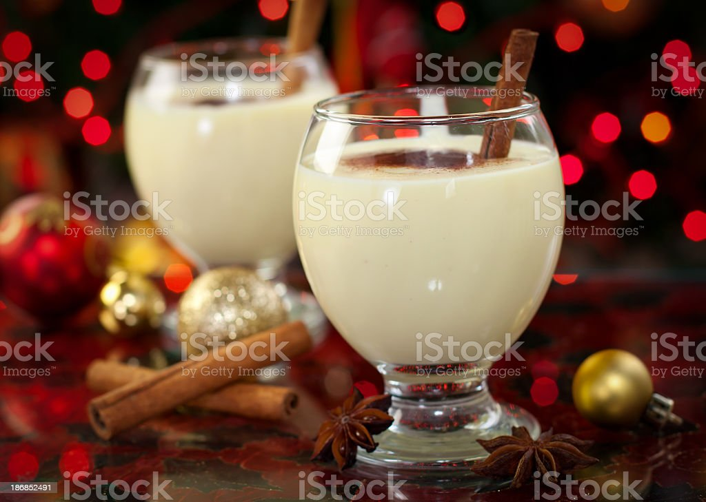 Eggnog at Christmas Time royalty-free stock photo