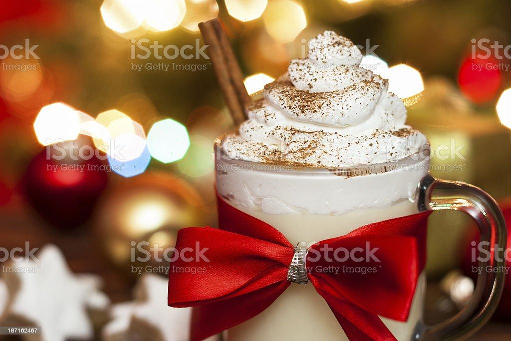 Eggnog at Christmas Time - Stock Image stock photo