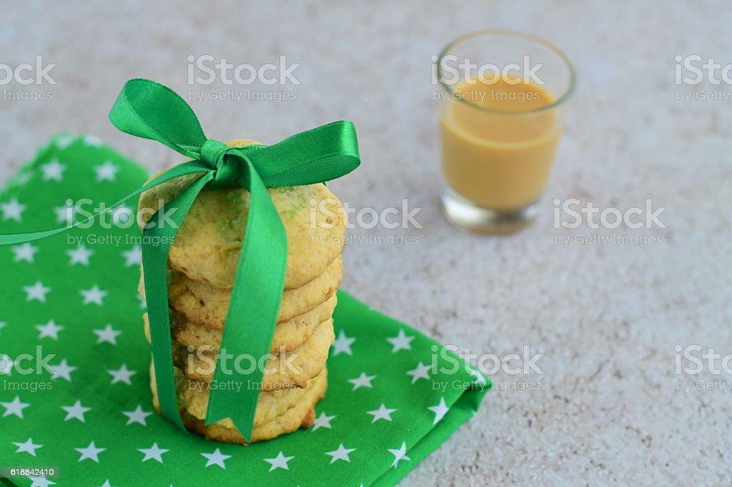 Eggnog cookies stock photo