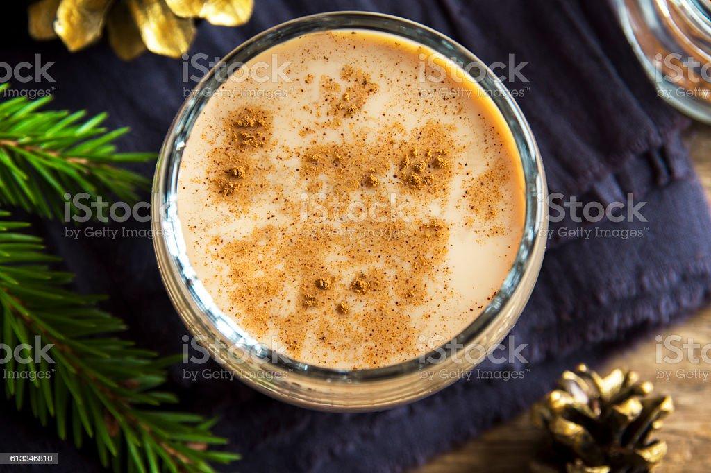 Eggnog for Christmas stock photo