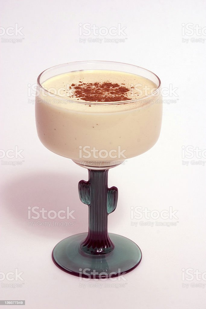 Eggnog in a cocktail Glass royalty-free stock photo