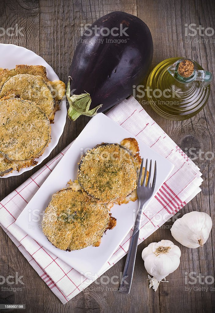Eggplant cutlets. royalty-free stock photo