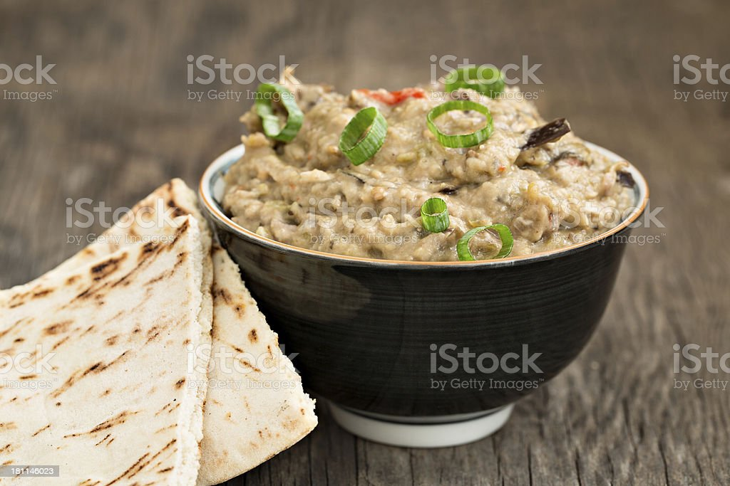 Eggplant Dip stock photo