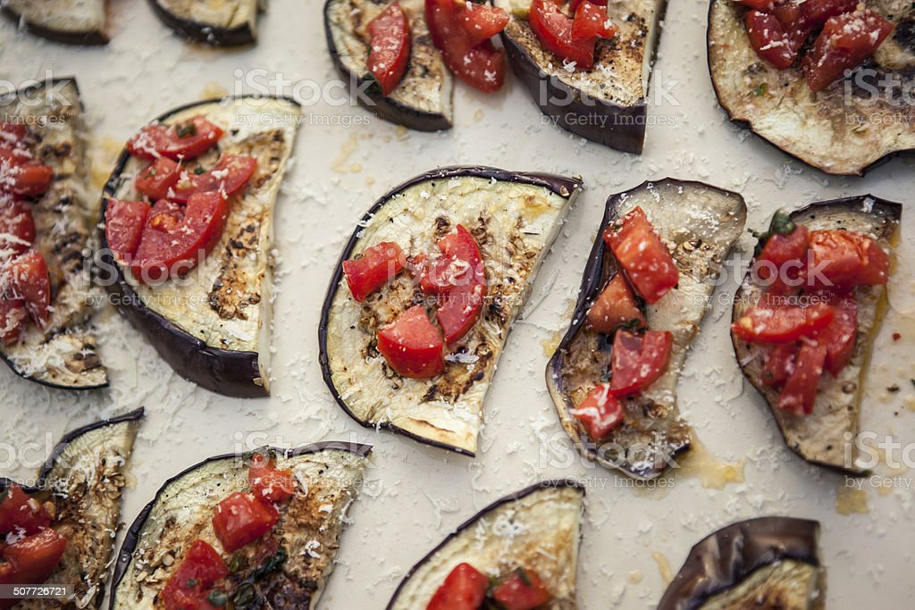 Eggplant dish royalty-free stock photo