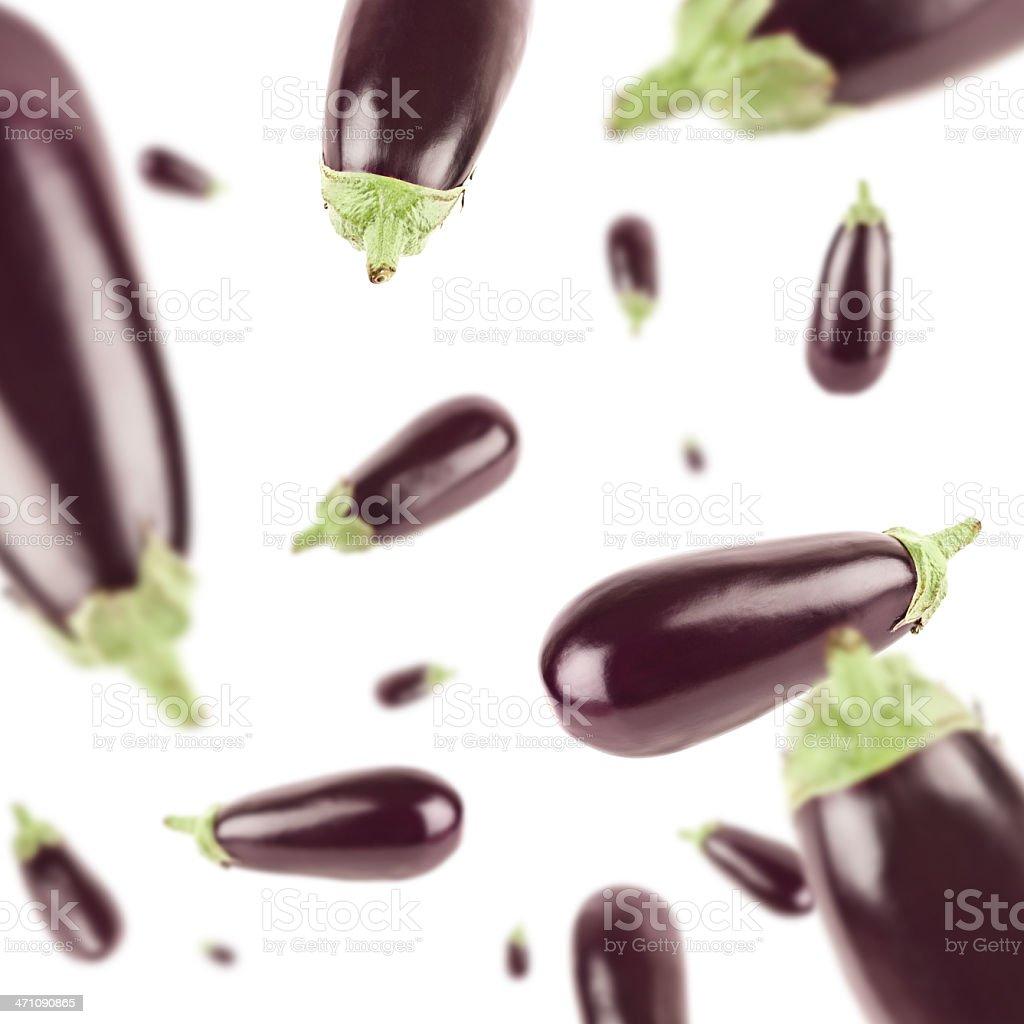 Eggplant Explosion royalty-free stock photo