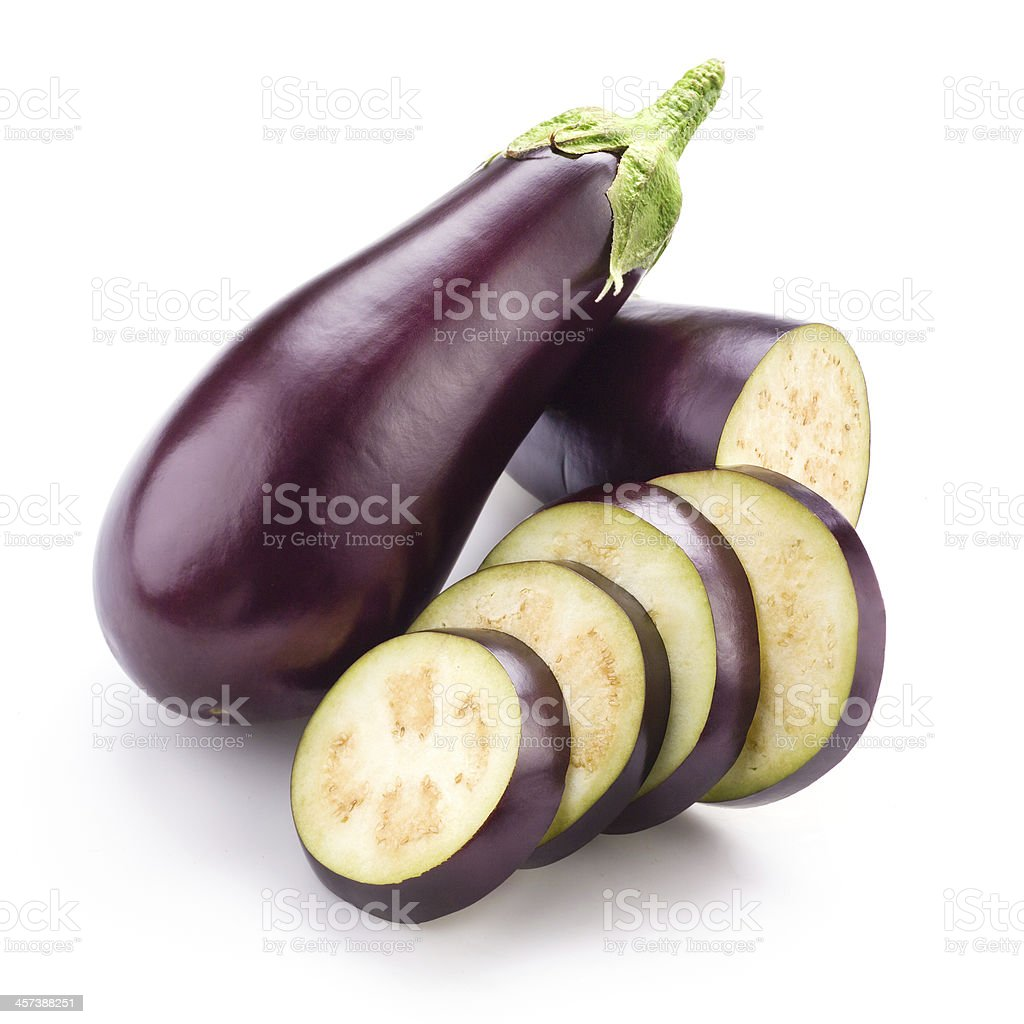 Eggplant (aubergine) isolated on white stock photo