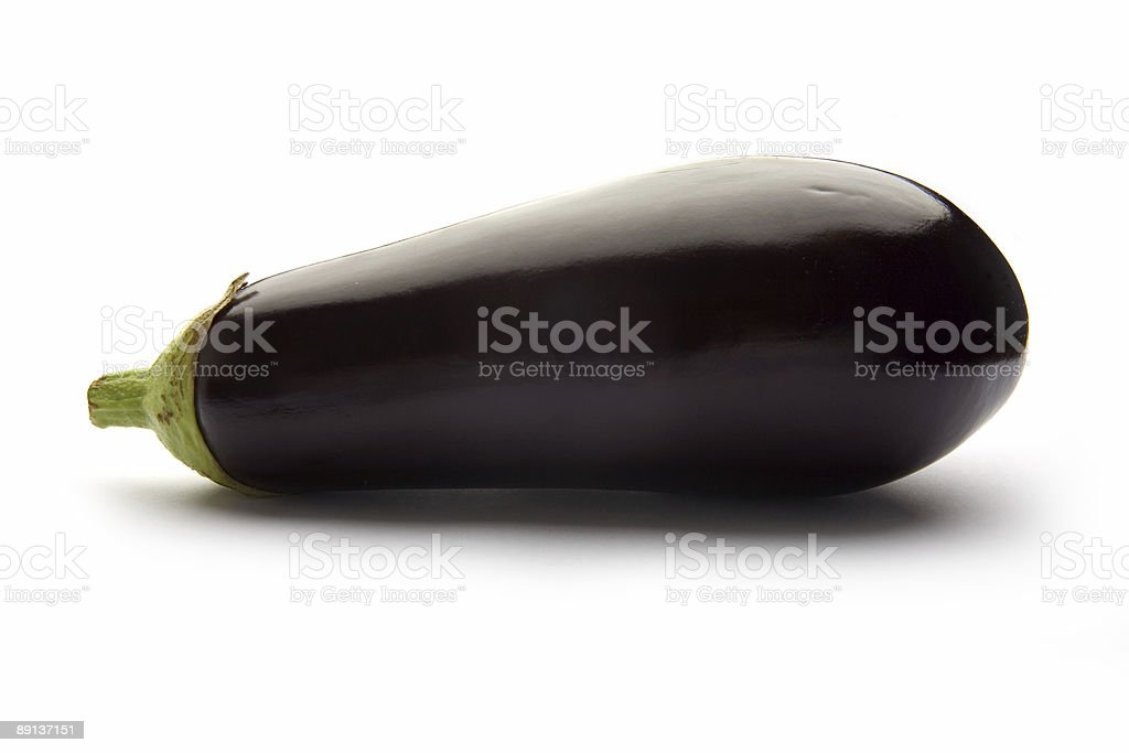Eggplant on a white studio background. royalty-free stock photo
